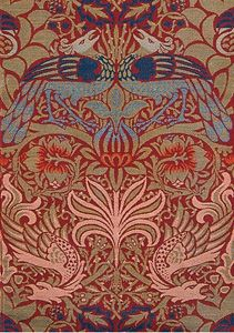 William Morris 'Peacock and Dragon' 1878, jacquard-woven wool, Collection of the National Gallery of Australia