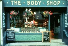The Body Shop first store in Brighton, UK in 1976.