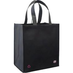 Reusable Grocery Tote Bag Black 5-pack