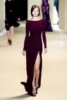 Plum dress by elie saab fall 2011