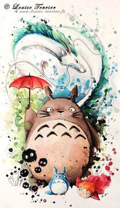 Totoro by Louise Terrier :)