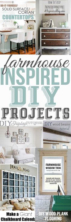 7 Incredible farmhouse inspired projects and tutorials! Great projects to help inpire you to bring the farmhouse look to your home one project at a time -The Mountain View CottageThe Mountain View Cottage farmhouse inspiration, farmhouse decor, farmhouse DIY, farmhouse projects, farmhouse tutorials