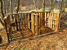 Another purpose for pallets! Compost bin