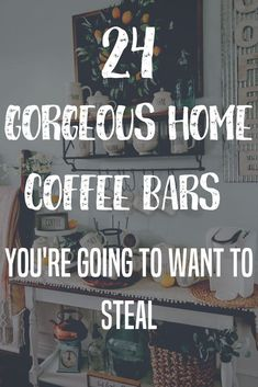 Save and Share on Pintrest Sew Much Coffee Help! Theres not a lot of space in my home but a cozy coffee bar would be lovely. This may be the common cry among coffee lovers today. Coffee Bars In Kitchen, Coffee Bar Home, Home Coffee Stations, Coffee Corner, Kitchen Small, Coffee Kitchen Decor, Coffee Bar Ideas, Coffee Bar Design, Coffee Station Kitchen
