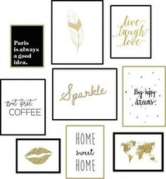 67 trendy Ideas for bedroom diy wall art free printables Abc Poster, Mode Poster, Metal Tree Wall Art, Diy Wall Art, Framed Wall Art, Diy Art, Gold Wall Decor, Ideias Diy, Inspirational Wall Art