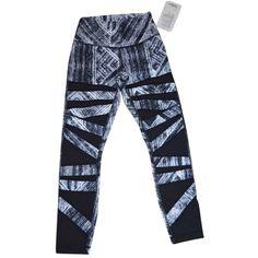 Lululemon Pre-owned Lululemon Heat Wave Black White High Times Pant... (210 CAD) ❤ liked on Polyvore featuring activewear, activewear pants, heat wave black white and lululemon