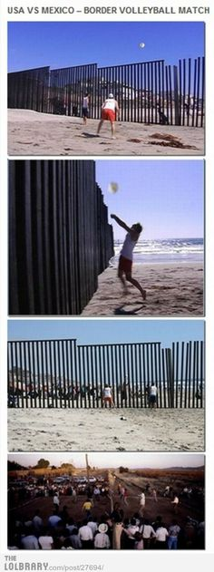 USA Vs Mexico Border Volleyball Match I so wanna do this Little Bit, Faith In Humanity Restored, Just For Laughs, Laugh Out Loud, The Funny, In This World, I Laughed, The Best, Laughter