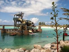 Floating Play area at Castaway Cay
