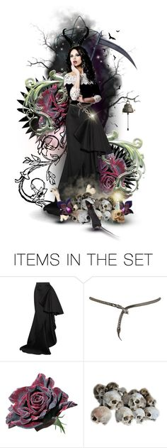 """""""The Reaper's Daughter"""" by the-alchemistress ❤ liked on Polyvore featuring art, doll, dollset, death, artset and artexpression"""