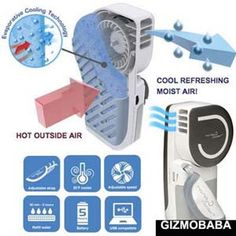Portable Evaporative Cooling Air Conditioner A/C Cooler Fan