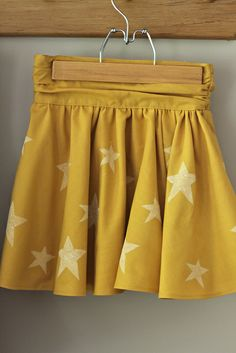 beautiful yellow star skirt, burdastyle pattern :: @Lucinda Poel