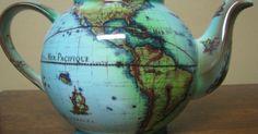 Cardew Terrestrial World Globe Tea Pot Made in England Globe? Tea Pot? England? TAKE MY MONEY!!!!!!