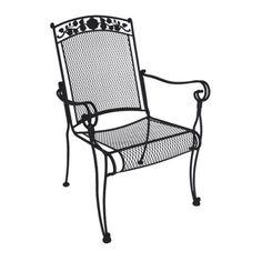 Charleston Wrought Iron Hi-Back Chair - Set of 4