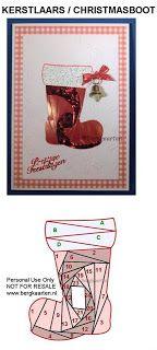 Christmas Santa Boot Iris Fold Card
