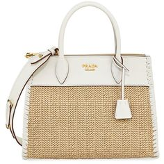 Prada Large Paradigm Basket Tote (137.980 RUB) ❤ liked on Polyvore featuring bags, handbags, tote bags, tote handbags, tote bag purse, white tote, prada tote bag and handbags tote bags