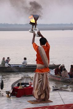 Morning Aarti of the Ganges