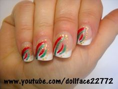 Christmas French - Nail Art Gallery by NAILS Magazine