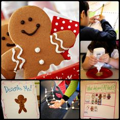 """This week we went CRAZY for gingerbread men! We started the week using the book """"Gingerbread Baby"""" by Jan Brett as our read aloud and theme for the week. I read the story to my students multiple ti."""