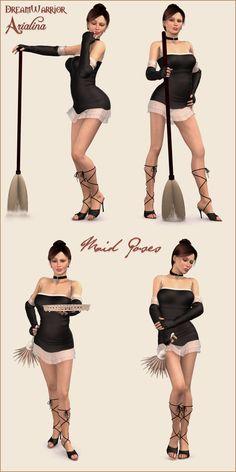 Figure Model Poses   Requirements: Poser or Daz Studio, Victoria 4