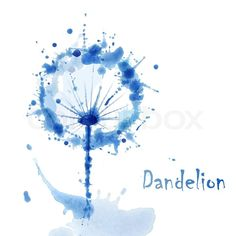Stock vector ✓ 11 M images ✓ High quality images for web & print | Abstract Watercolor art hand paint background with flower dandelion
