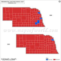 Iowa Election Results Map 2008 Vs 2012 USA Presidents Election