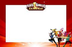 Resultado de imagen para invitaciones de los power rangers samurai