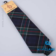 Pure wool tie in Colquhoun modern tartan  - from ScotClans