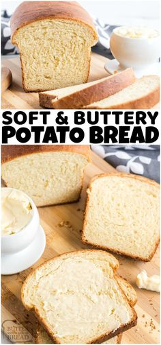 Potato Bread made with mashed potatoes, butter, milk, flour, eggs, and yeast. Potato Bread recipe is a family favorite that's easy to make Healthy Bread Recipes, Best Bread Recipe, Banana Bread Recipes, Muffin Recipes, Healthy Food, Kitchen Recipes, Cooking Recipes, Potato Bread, Incredible Recipes