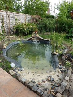 Adorable 41 Fabulous Fish Pond Design Ideas For Your Home Yard Small Fish Pond, Koi Pond Design, Landscape Design, Fish Pond Gardens, Turtle Pond, Pond Landscaping, Natural Swimming Pools, Aquaponics System, Aquaponics Greenhouse