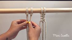 Macrame tutorial & How to make a square knot The basic knot you need to know when learning to macramé. For more inspiration or fiber art supplies check out our shop. The post Macrame tutorial & How to make a square knot appeared first on Pro. Macrame Wall Hanging Patterns, Macrame Art, Macrame Design, Macrame Projects, Macrame Patterns, How To Macrame, Des Fleurs Pour Algernon, The Knot, Micro Macramé