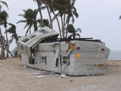 Overturned Trailer after Hurricane Wilma