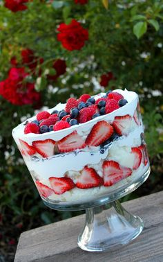 White Chocolate Berry Trifle--made this last night and it is so, so good!! Definitely a good summer dessert to bring to parties.