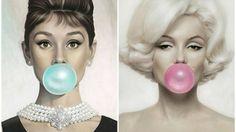 Aubrey Hephurn & Marilyn Monroe