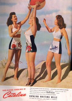 Catalina Swimsuits from 1944 #40sfashion #vintageswimsuit #playsuits