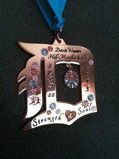 Detroit Women's Half Marathon & 5K Medal