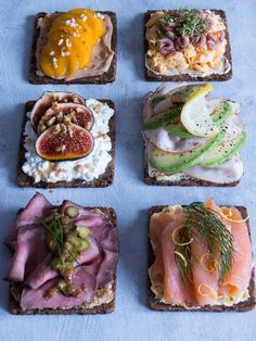 This is what 100 Calories of Healthy Food looks like Recipes Junkie Sandviç tarifi Swedish Cuisine, Danish Cuisine, Danish Food, Healthy Baking, Healthy Snacks, Tapas, Open Faced Sandwich, Brunch, Norwegian Food