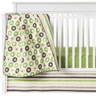Green Mod Dots & Stripes 10pc Crib Bedding Set ( w/out Bumper) by Bacati Quick Info