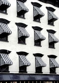 striped awnings.