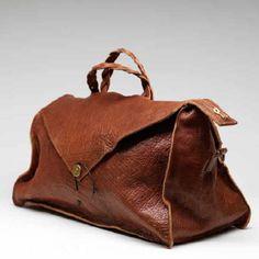 Visby Weekendbag i ljusbrunt läder