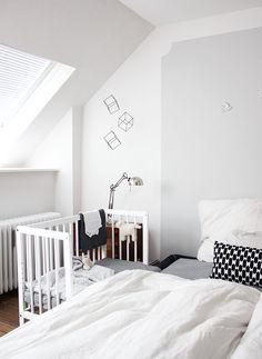 Unser Schlafzimmer mit Beistellbett