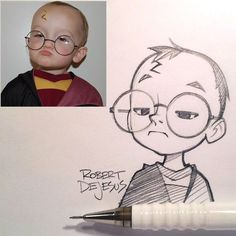 Anime Characters from Real People by Robert De Jesus