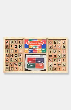 Free shipping and returns on Melissa & Doug Alphabet Stamp Set at Nordstrom.com. A library of letters and fun colors creates a stamp set designed to let your little one's writing side take flight.