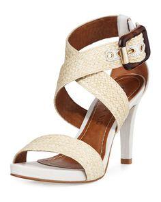 eb167fa025f Ana Woven   Leather Dress Sandal White Pattern