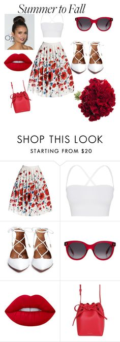 """""""red & white"""" by ruth-jaimie-hollingsworth on Polyvore featuring Rumour London, Theory, Alexander McQueen, Lime Crime and Mansur Gavriel"""