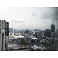 Moody skies in Melbourne, Australia