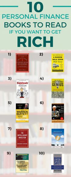 If you're looking to get rich through investing, these are the best books to read--for both beginner and advanced investors. #stockmarkettradingideas