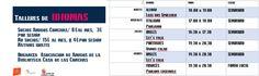 Información sobre los horarios y grupos de conversaciones. A 17, Lets Go