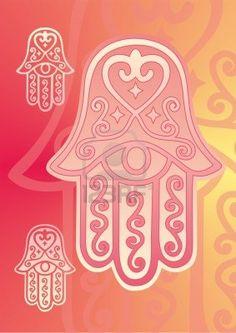 hamsa hand of fatima with eye