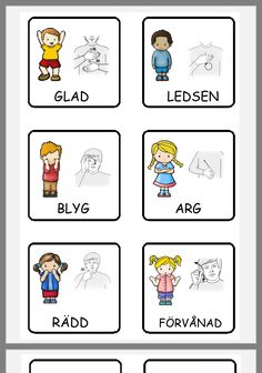 Educational Activities For Kids, Preschool Learning, Teaching, Preschool Library, Learn Swedish, Swedish Language, Fall Crafts For Kids, Colorful Fish, Sign Language