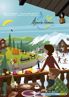 Les hébergements des Alpes du Léman croquées par Charlie Adam #Làoh
